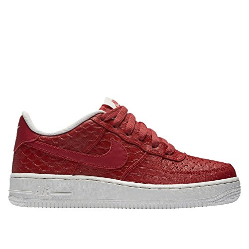 Nike Air Force 1 LV8 (GS) Trainers 820438 Sneakers Shoes (4.5 M US Big Kid, Action red Summit White 600) -