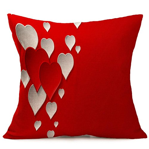 Price comparison product image Happy Valentine's Day Pillow Case Throw Cushion Cover Sofa Home Car Party Decor