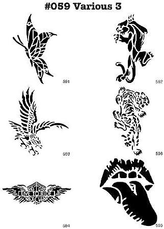 Tiere Airbrush Schablone Stencil Muster 013 Leopardenfell