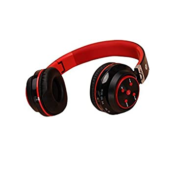 MSE High quality Pebble Ultra BT Stereo On Ear Wireless Headphones With Mic Red PC Speakers