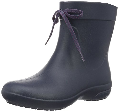 crocs Women's Freesail Shorty Rainboot, Navy, 9 M US