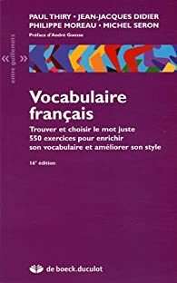 Vocabulaire français par Paul Thiry