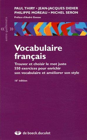 Telecharger Vocabulaire Francais De Paul Thiry Jean