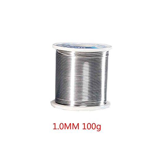 MuLuo 1.0MM 100g Tin Solder Wire Low Melting Point Welding Rosin Tin Core for Welding Rework Repair ()