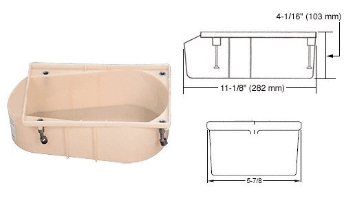 Rixson Model (CRL Rixson Model 27 and 28 Series Floor Closer Cement Case by CR Laurence)