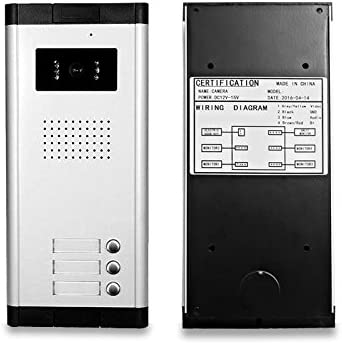HFeng 7  LCD Color Con Cable Video portero puerta sistema 700TVL Night Vision Camera Timbre Con m/últiples 2 apartamentos//Home