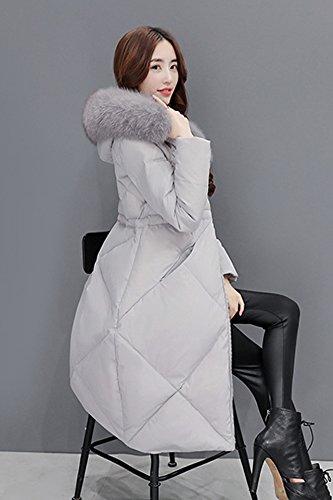 Generic Down_South_ Korean Women girl winter _knee_thicker_ longer_section_Nagymaros_ collar Slim waist thin coat