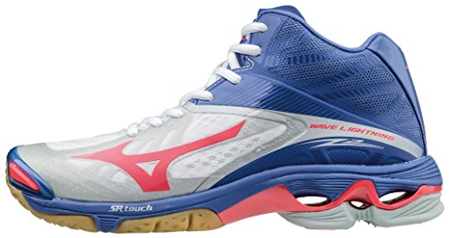 Wos Mizuno W De Zapatillas Para Z2 Blue Pink Mid lightning Voleibol White Mujer pMIMKS