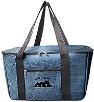 Cota's home エコバッグ かごサイズ エコバック 保冷バッグ 保冷エコバッグ レジカゴ 折りたたみ おしゃれ デニム生地