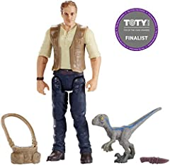 "Get ready for thrilling action and adventure with Jurassic World! These action figures are inspired by characters in the film and feature realistic sculpts at 3 ¾"" action scale. Each comes with an accessory or dinosaur action figure so kids p..."