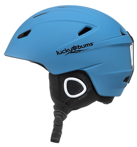 Lucky Bums Powder Series, in-Mold Snow Sport Helmet, Glacier Blue, Small