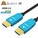 HDMI Cable 50ft, BlueAVS Fiber Optic Cable 4K 60Hz 15m HDMI 2.0b High-Speed 18Gbps Dolby Vision HDCP2.2, 3D / HDR/ARC, 4:4:4/4:2:2/4:2:0 Black