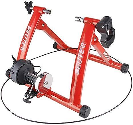 Entrenador de bicicleta de ejercicio interior Entrenamiento en el hogar Resistencia magnética de 6 velocidades Entrenador de bicicleta Carretera MTB Entrenadores de bicicleta Rodillo de ciclismo: Amazon.es: Deportes y aire libre