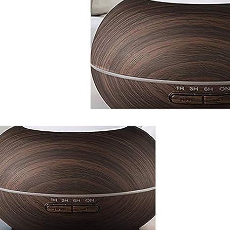 Shumo Smart WiFi 400 Ml Aroma Olio Essenziale Diffusore Umidificatore Compatibile con Alexa e Home  Voice Control EU Plug-Deep Wood Grain