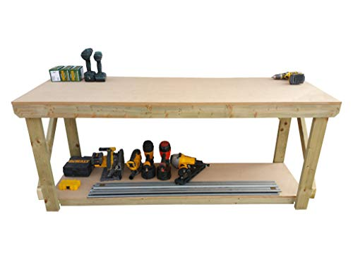 Wooden MDF Workbench - Work Table Handmade Strong Heavy Duty - Made