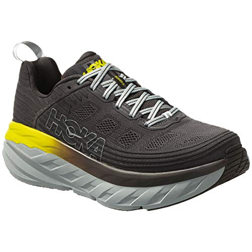 HOKA ONE ONE Mens Bondi 6 Black Olive/Pavement Running Shoe - 11.5