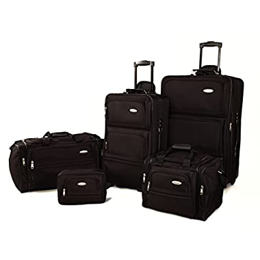 Samsonite 5 Piece Nested Luggage Set, Black, 5 piece set