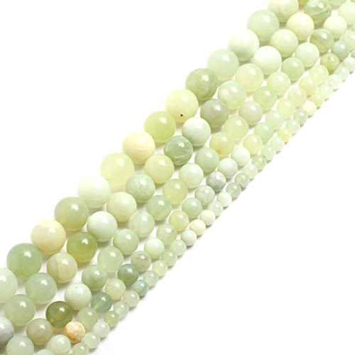 Natural Round Hua Show Jade Gemstone Loose Beads In Bulk For