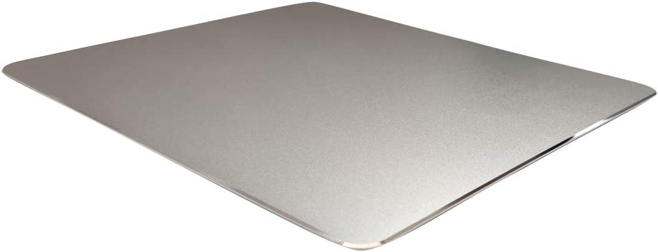 Metal Aluminum Mouse Pad for Economic,Smooth Magic Ultra Thin Double Side Mouse Mat,Non-Slip Rubber Base Mousepad for Computer & PC and Office(Small Size 8.66×7.08 inches,Silver)