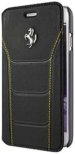 Ferrari feseflb kp6bky Debossed piel Book Type 488Buzón con stitchings Amarillo para Apple iPhone 6/6s 11,9cm (4,7pulgadas), color negro