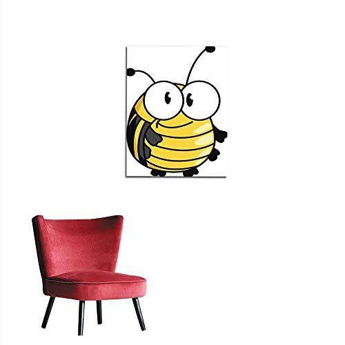 Poster Wall Decor Happy Smiling Fat Little Bumble bee Mural 16