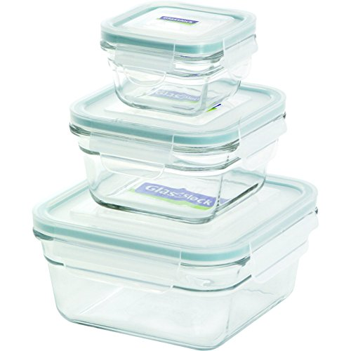 Glasslock 6-Piece Square Oven Safe Container Set