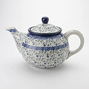 Polish Pottery Medium Teapot – Forget-me-not – 3 Cup