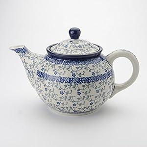 Polish Pottery Medium Teapot – Forget-me-not – 3 Cup