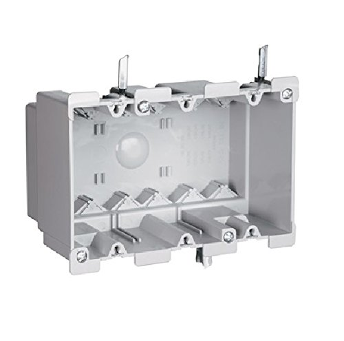 P & S S3-52-W 3-Gang Plastic Old Work Switch/Outlet Box w/Quick Click by Slater Plastic Boxes (Image #1)