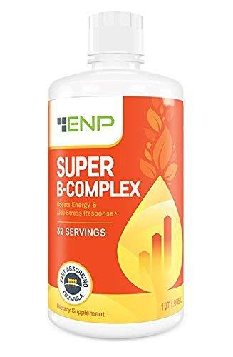 Super B Complex Liquid Vitamin Supplement | 500mg B12 and 50mg B6 | 32oz. | Liquid B-Complex Vitamins Boost Energy, Aid Stress Response | Effective Natural Products