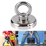 Recovery Magnet Hook Strong Sea Fishing Diving Treasure Hunting Flying Ring - 28kg 36mmx30mm liyhh