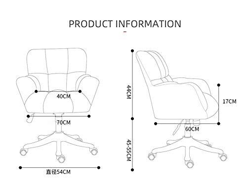 LYJBD kontorsstol, skrivbordsstolar med hjul, justerbar svängbar rullning, ergonomisk justerbar kontorsstol