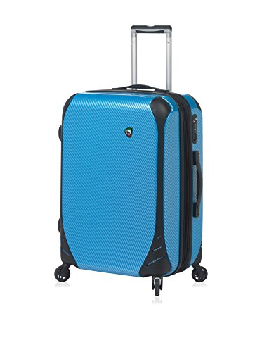 Mia Toro Toro Italy Fibre di Carbonio Largo Hardside Spinner Luggage Carry-On Koffer, 61 cm, Blau (Blue)