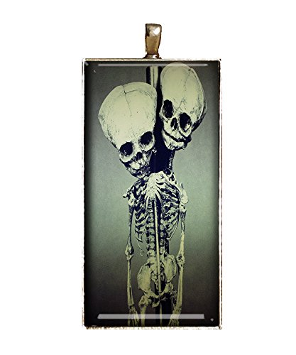 Conjoined Twins necklace handmade Classic freak show jewelry gift pendant charm