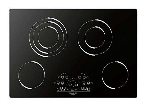 Fulgor Milano F6RT30S1 600 Series Electric Radiant Cooktop with Aluminum Frame, 30'', Black