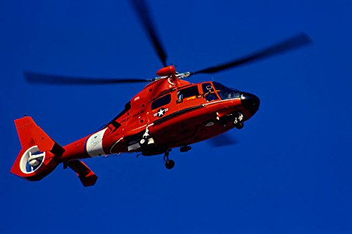 Coast Guard Helicopter Poster Print by Stocktrek Images (17 x 11)