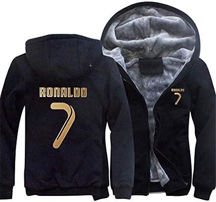 8b403e91fb Felpa Juventus No.7C Ronaldo Soccer ClubRound Neck Manica Lunga da Calcio  per Uomo e. Caricamento immagini in corso.