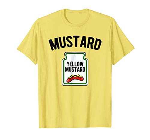 Mens Yellow Mustard Bottle - Funny Halloween Costume T-Shirt 2XL -