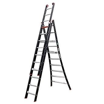 Altrex 0000420 Escalera de Aluminio, Manual Combinada, Número de Peldaños: 2 x 14: Amazon.es: Industria, empresas y ciencia