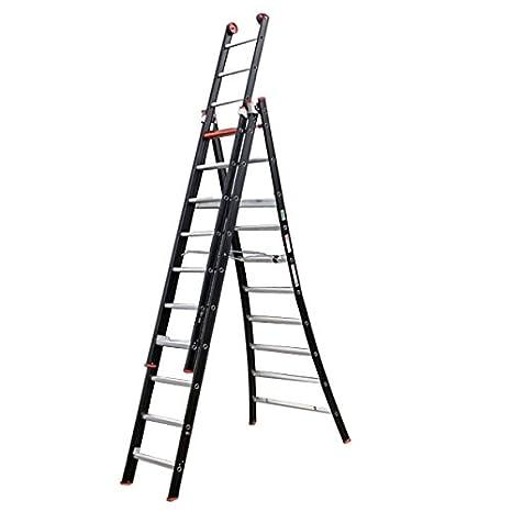Altrex 0000422 Escalera de Aluminio, Manual Combinada, Número de Peldaños: 3 x 10: Amazon.es: Industria, empresas y ciencia