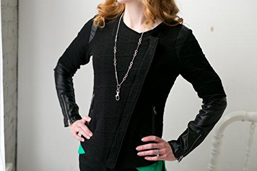 Hannah Women's Fashion Lanyard Silver Infinity Necklace with Swivel Clasp by Sweet Carolina K (Image #3)
