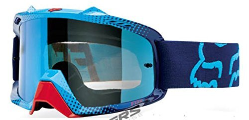 Fox Racing AIRSPC 360 Race Adult Dirt Bike Motorcycle Goggles Eyewear - Blue-Red/Blue Spark / One Size Fits All