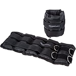 Well-Being-Matters 41B6APYZiVL._SS300_ Amazon Basics Adjustable 5 Pound Ankle and Leg Weights - Set of 2, 14 x 6 Inches, Black