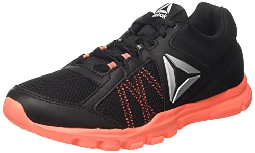 Reebok WoMen Yourflex Trainette 9.0 Mt Fitness Shoes Black (Black/Guava Punch)