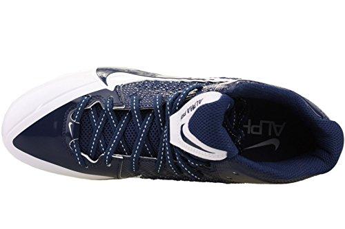 Nike Mens Alpha Pro Mid Tacchetti Da Calcio Bianco / Blu Navy