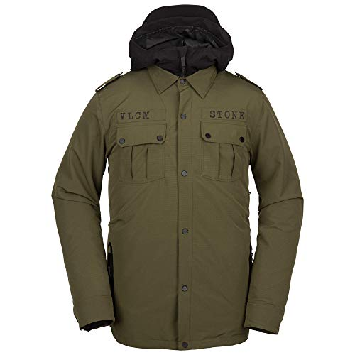 Volcom Men's Creedle2Stone Military Style Snow Jacket, Large