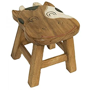 Tabouret Enfant D Bois Chaise Vache Figurine USzpMV