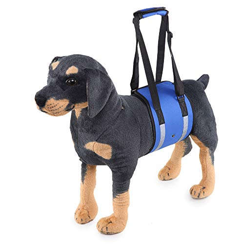 LXLP Dog Lift Harness Support Sling Helps Dogs with Weak Front or Rear Legs Stand Up, Walk, Get Into Cars, Climb Stairs…