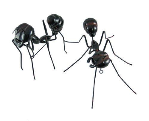 Pair Of Black Ant Metal Statues Insect