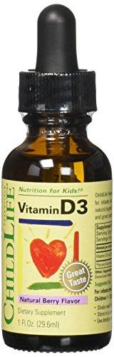 CHILD LIFE ESSENTIALS VITAMIN D3, 1 FZ - Pack of 3